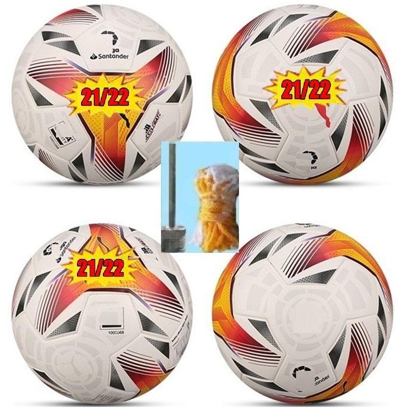 Top 21 22 Laliga Balón de fútbol Tamaño 5 Partido de la liga 2021 2022 Final Kyiv PU Balls Gránulos Fútbol resistente a los deslizamientos