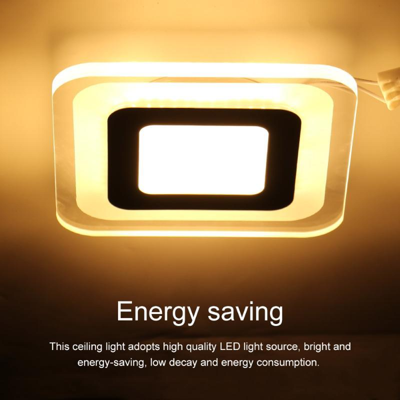 Modern LED Ceiling Light 16W Square Acrylic Lamp Surface Mounted Indoor Lighting Fixture For Living Room Home Decor Lights
