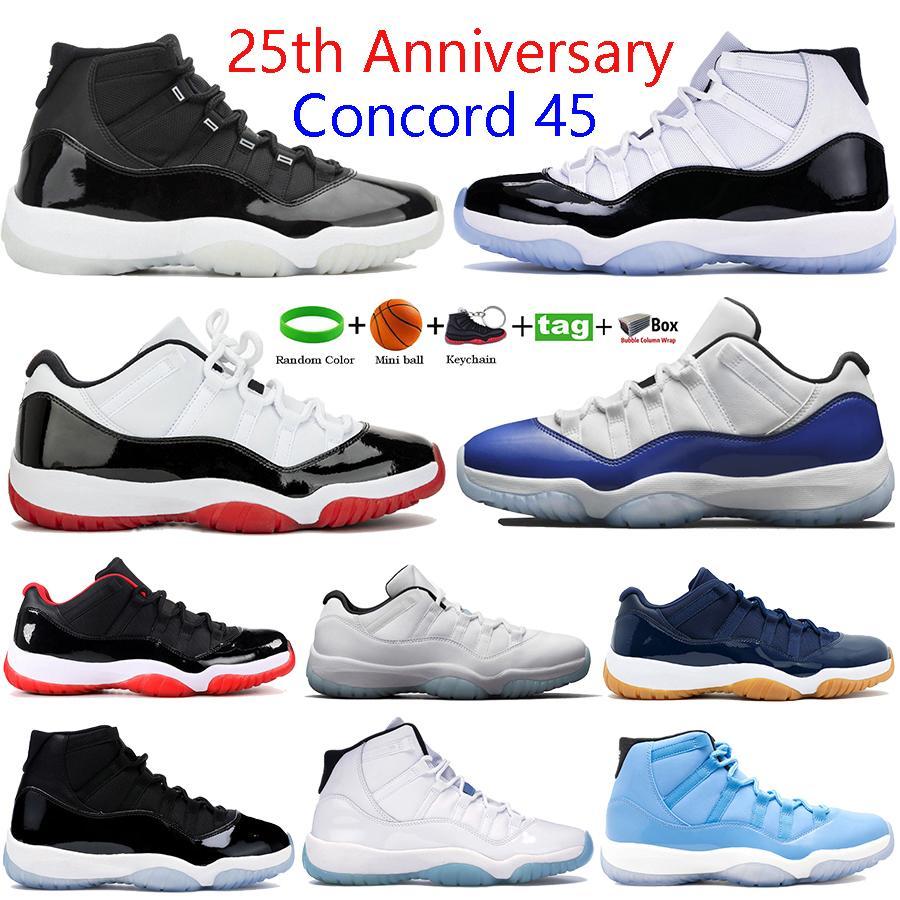 الأحدث الذكرى الخامسة والعشرين 11 ثانية 11 ارتفاع الرجال أحذية كرة السلة منخفضة أسطورة الأزرق كونكورد 45 وليد الفضاء مربى أحذية رياضية الأفعى المرأة البحرية المدربين