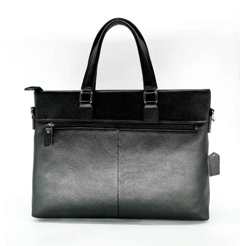 Evrak Çantaları Hakiki Deri Taşınabilir erkek Çantası Erkekler İş Kılıf Çanta Yatay Rahat Seyahat Evrak Çantası Omuz Messenger Bag1 8x08