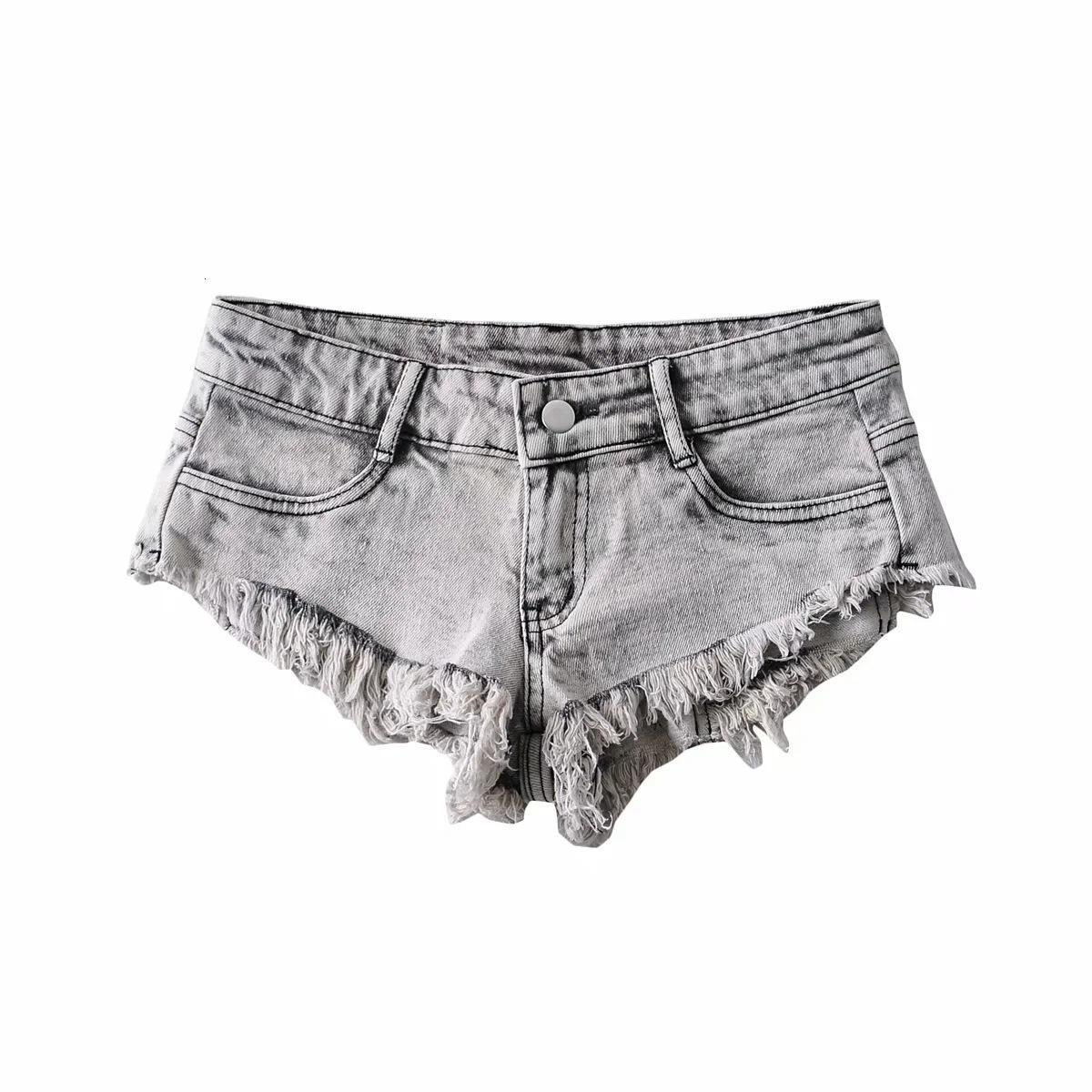 2021 Verano Baja Cintura Raw EE Women Jeans Shorts Wash Wash Ultra Short Denim Pants Wear Wear