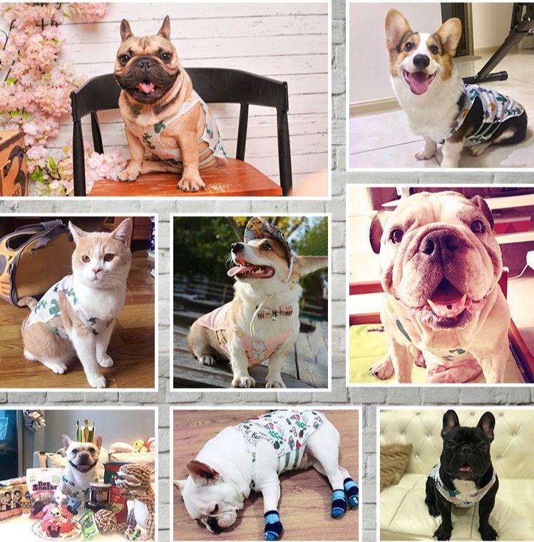Sublimación Reflector en blanco Nylon chaleco para perros mascotas Ropa de malla transpirable ajustable Camisa de moda creativa Camisa de verano TUXEDO PET DOG Suppli {Categoría} PWGS