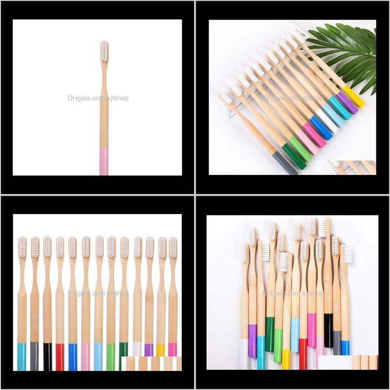 Electric Toothbrushes & Replacement Heads Personal Care Household Appliancesbamboo Natural Bamboo Color Cylindrical Toothbrush Drop Delivery
