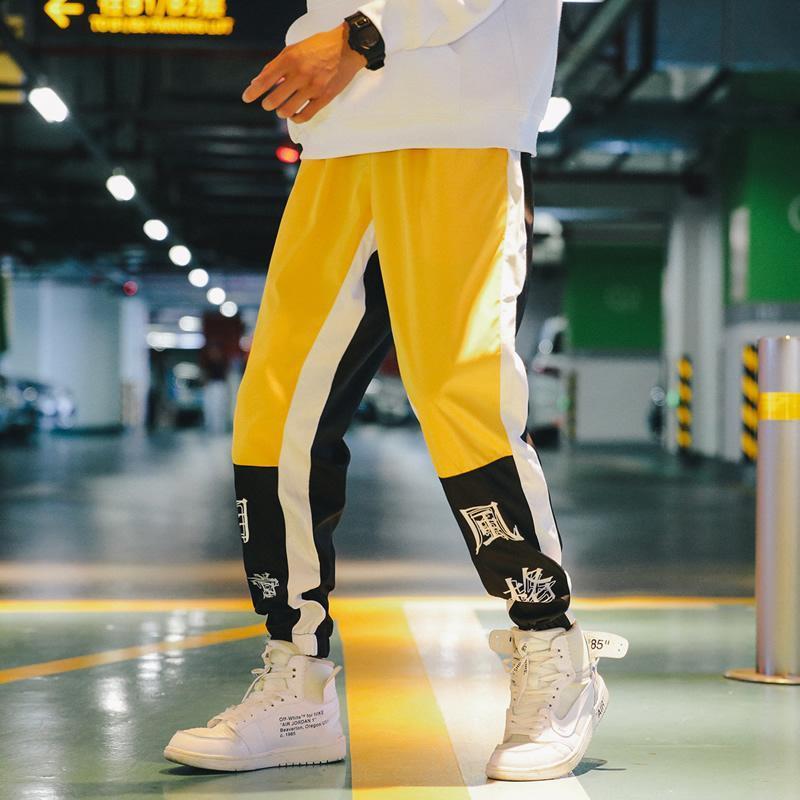 السراويل الرجال النمط الياباني الهيب هوب الشارع الشهير حريم الرجال sweatpants عداء الجوارب ملابس ركض لطيف 5xl