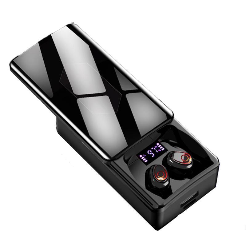 MP4-Player Y8 Bluetooth 5.1 Kopfhörer 10000mAh-Ladebox Wireless Kopfhörer 9D Stereo-Sport-wasserdichte Ohrhörer-Headsets mit doppeltem MI