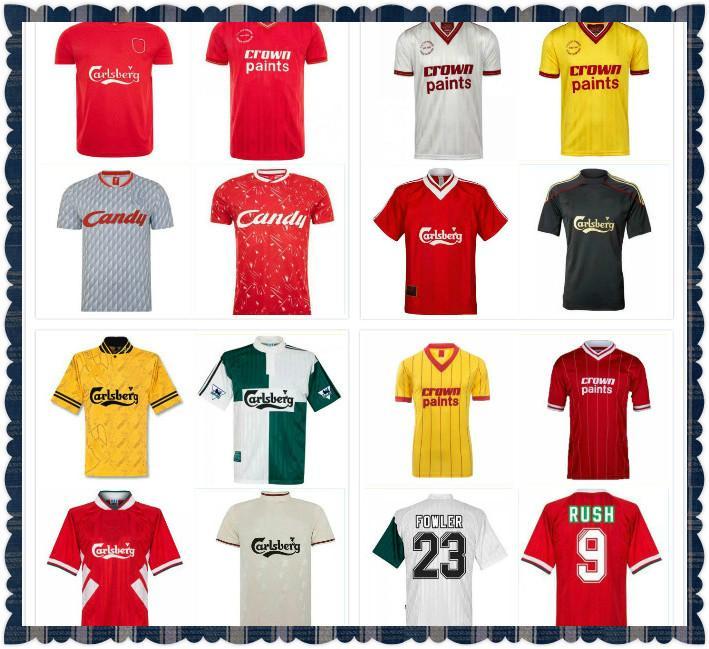 Dalglish Retro Soccer Jerseys Gerrard 2005 Smicer Alonso 10 11 Football Hemden Torres 82 89 91 MAILLOT 85 86 Kuyt Kuye 08 09 Suarez