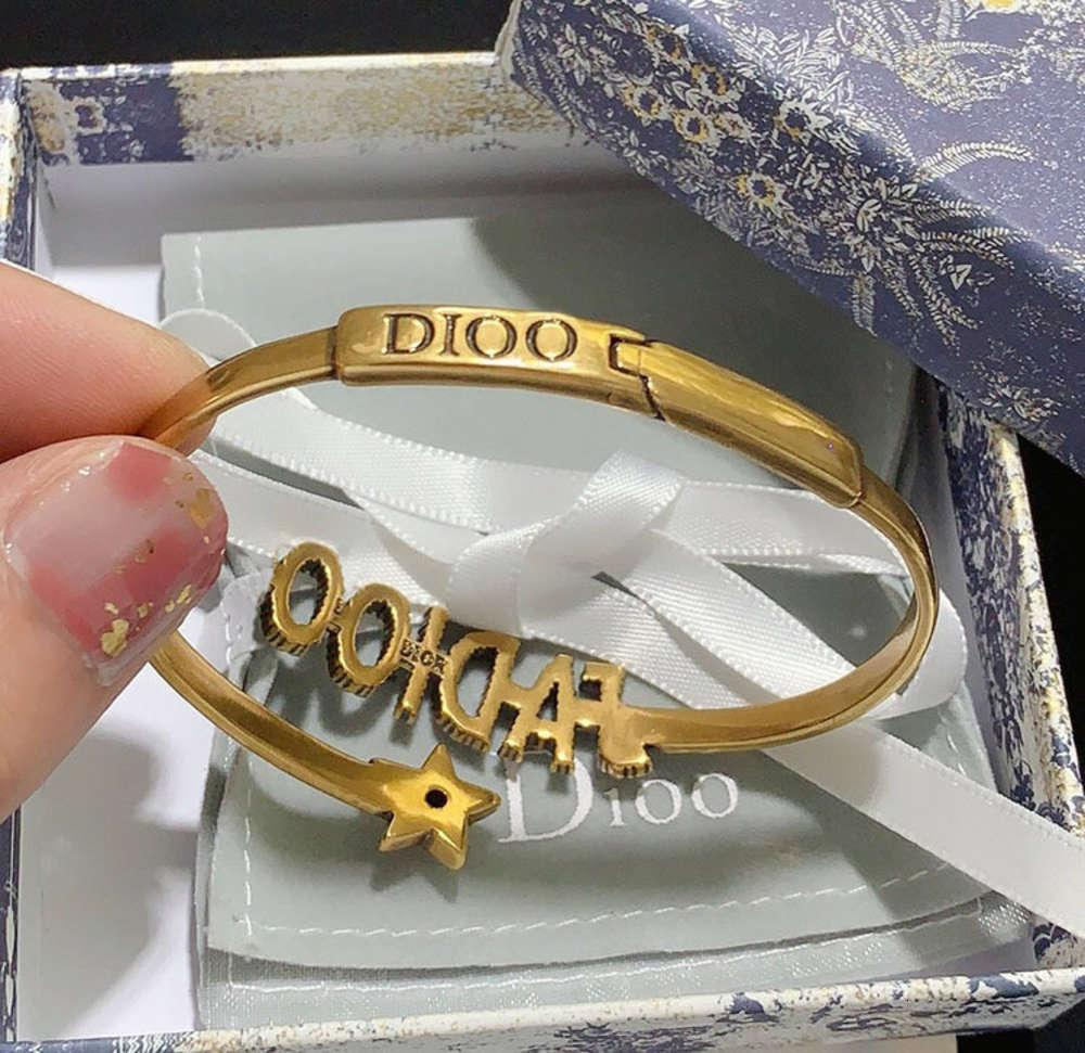 Hochwertige Ware D Home / Dijia JA BRIEF Armband Frauen Messing Kristall Diamant Schmuck Nein Original Box VIP7