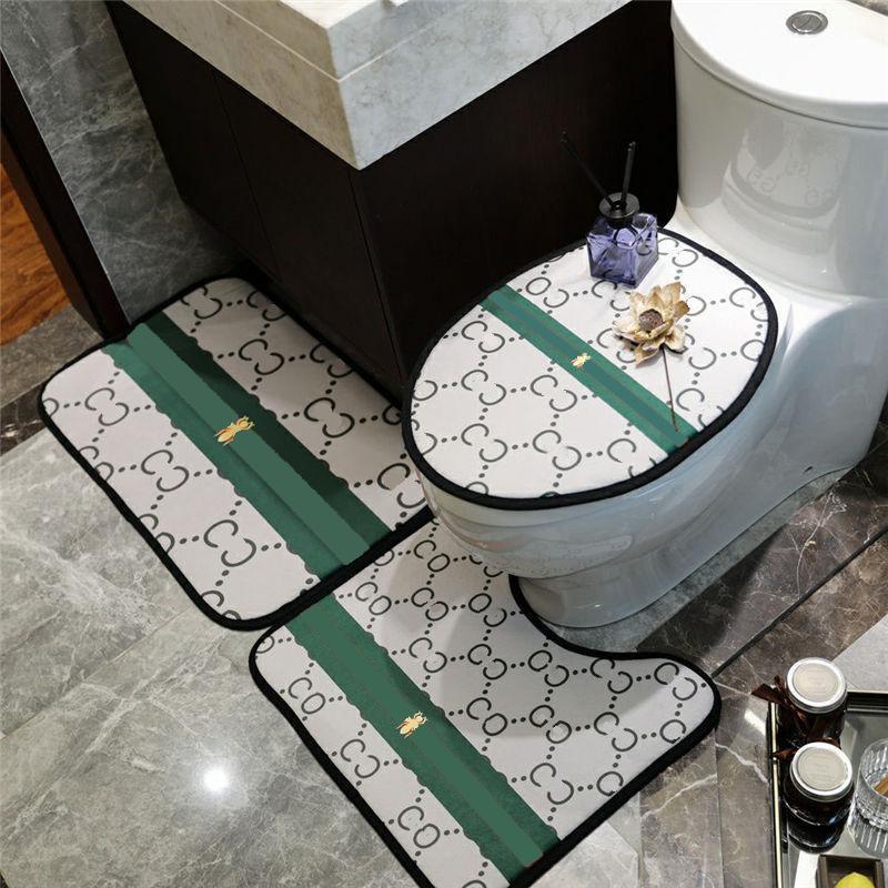 3D designer impresso esteira de banho para tapetes de chão de casa de banho decoração de casa conjunto de tapete de assento toalete tampa antiderrapante tapetes de pé sabre