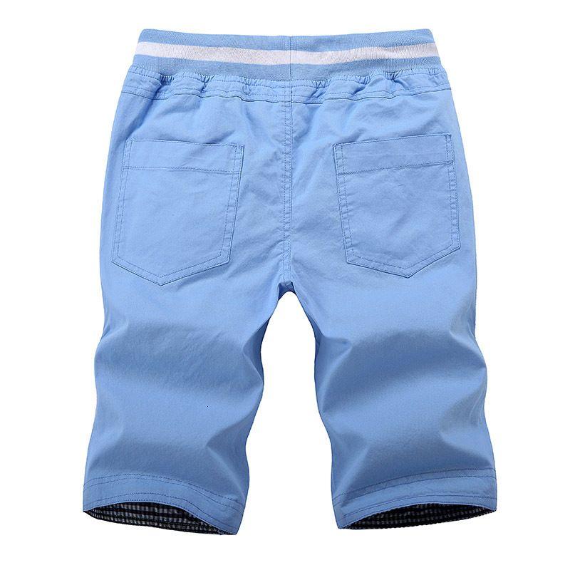 Asiatische Größe M-4XL Baumwolle Massivfarbe Strand Shorts Männlich Lose Kordelzug Casual Sports Shorts Herren Sommer Shorts