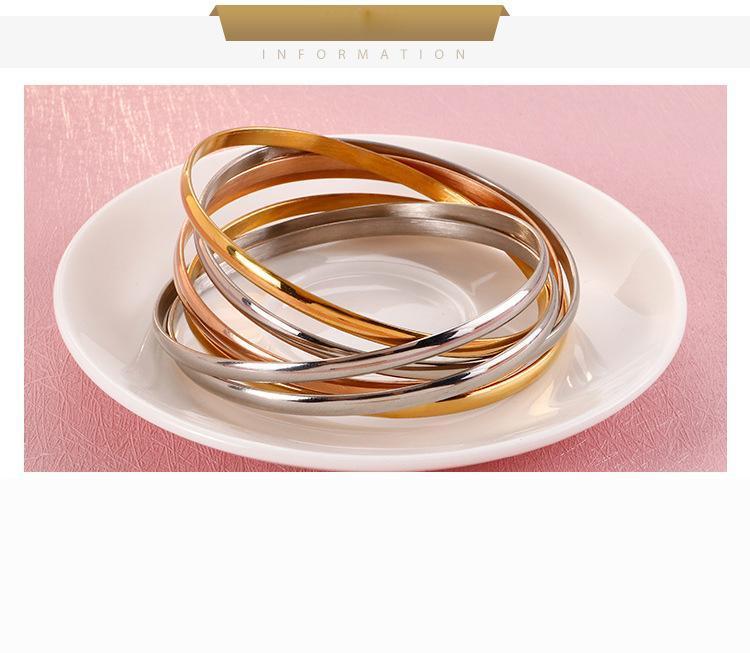 Hohe qualität 18k vergoldet titanium stahl armband fein schmuck armreif glänzend polieren hand mode zubehör manschette