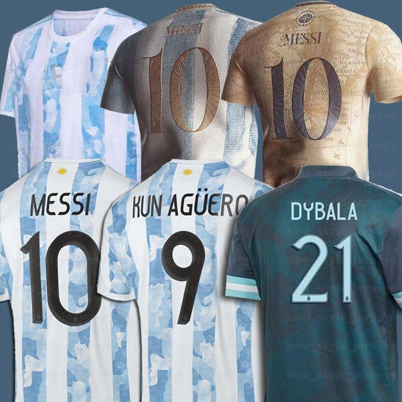 2021 Argentina Messi Dybala Lautaro Kun Aguero Retro 1978 1986 Maradona Jersey Home Away Maillot De Foot Men Kids Football Shirt