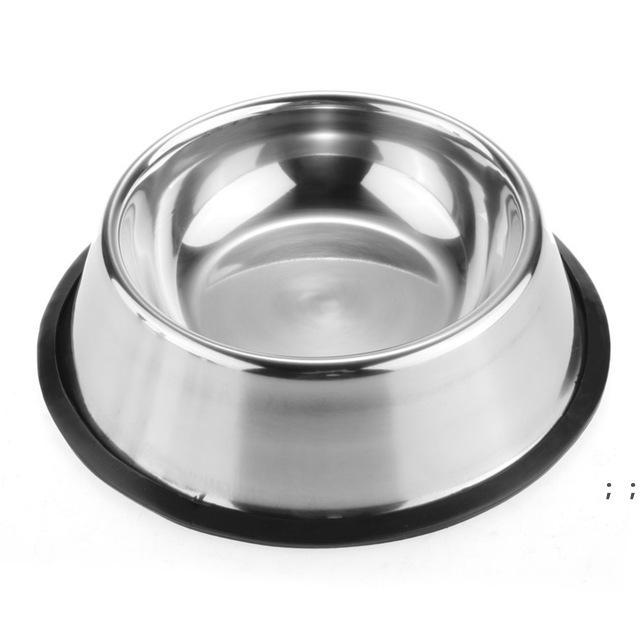Stainless Dog Bowl Pets Steel Standard Pet Dog bowls Puppy Cat Food or Drink Water Bowl Dish SEAWAY HWF9472