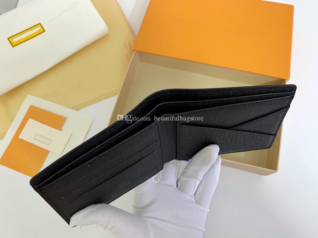 Großhandel Brieftasche Münze Geldbörse Clutch Bag Luxus Designer Geldbörsen Multi Card Position Leder für Männer und Frauen Durch Geschenkbeutel
