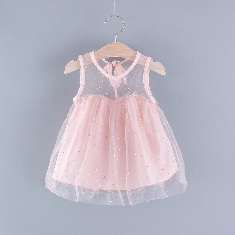 Vestidos de niña Vestido para bebés Vestido 2021 Ropa de verano Traducida fruncida Tulle Princess Children
