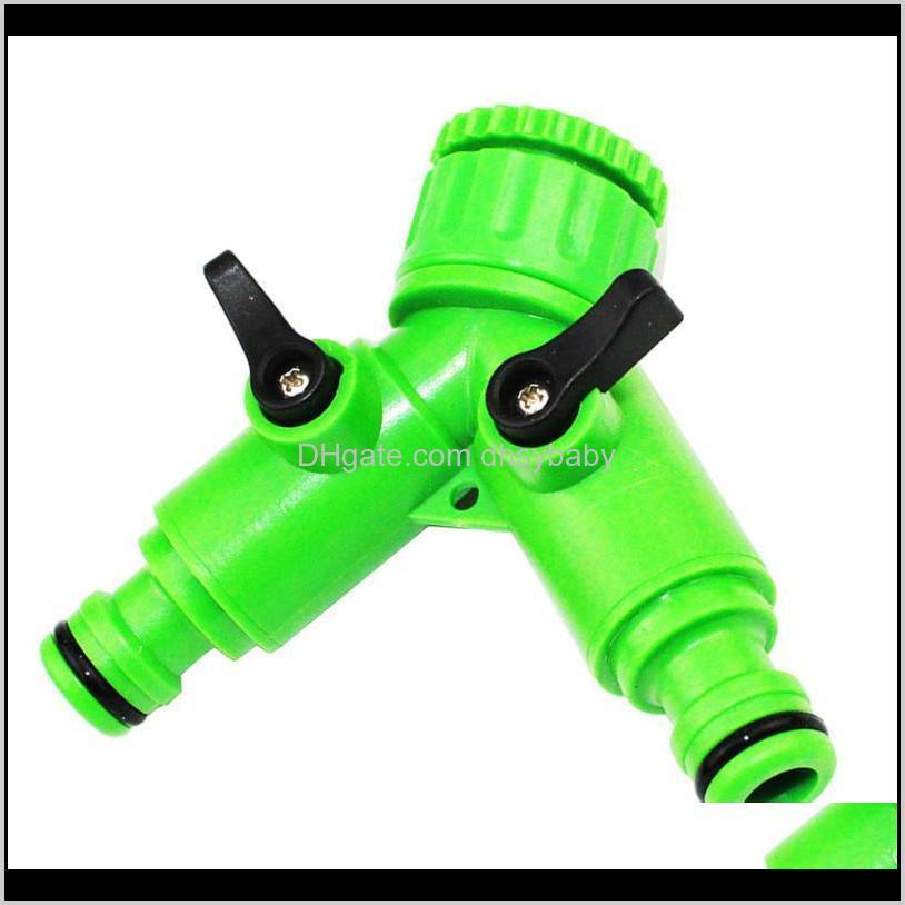 Watering-Ausrüstungen Liefert Patio, Rasen Hausgarten Drop Lieferung 2021 2 STÜCKE Switch VAE Split Flow Separator Wasserhahn Gelenk Waschen Hine Wate
