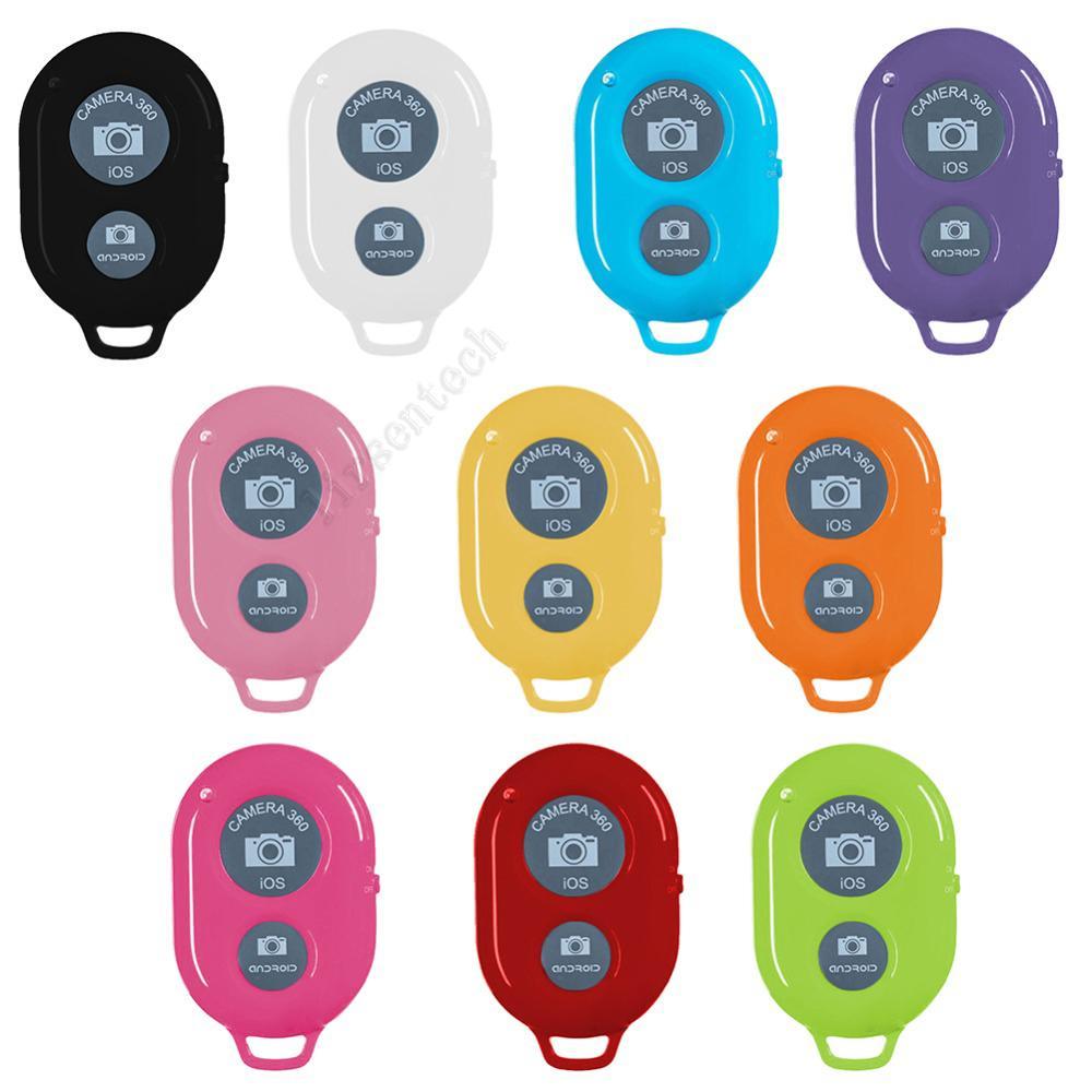 Control remoto Bluetooth Botón flexible Controlador inalámbrico Controlador de tiempo Auto-Timer Cámara Shutter Spotter Teléfono Monopod Selfie para iPhone Android Dropship gratis por DHL