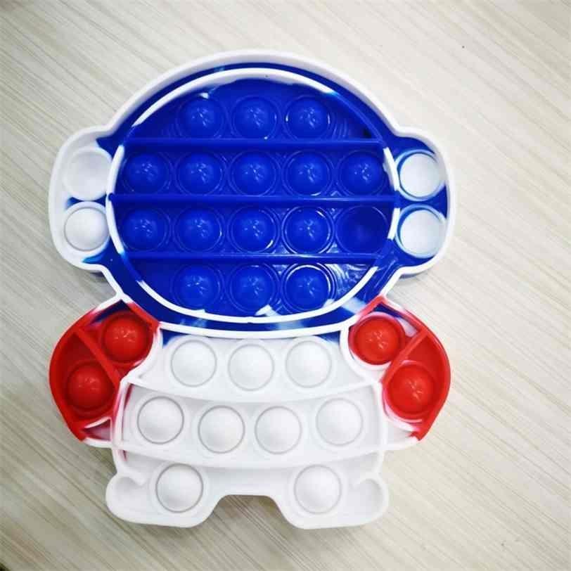 Foguete Empilhão Empurre Bubble Sensory Fidget Brinquedos Pioneer Fidget Anti Stress Silicone Crianças Puzzle Decompression Toy Bolhas de Dedo Prima Jogo de Placa G67EIF
