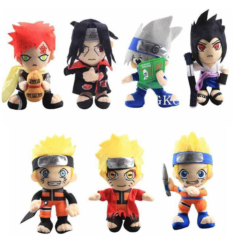 20 cm Anime Naruto Peluş Oyuncaklar Serin Gaara Hatake Kakashi Uchiha Itachi Sasuke Yumuşak Dolması Bebekler Noel Hediyeleri Çocuklar