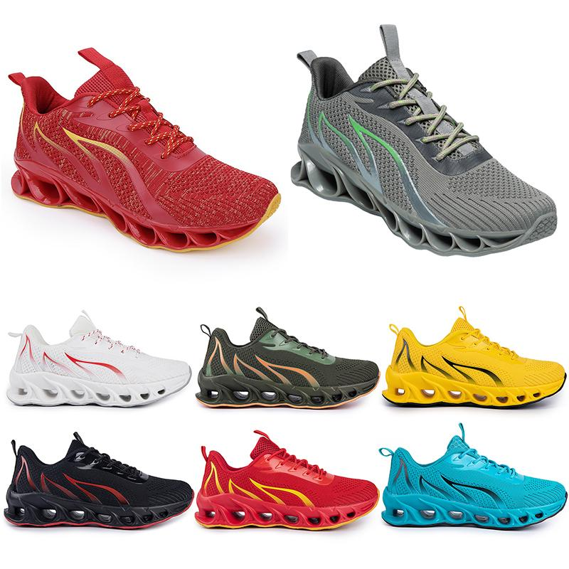 Running Shoes non-brand men fashion trainers white black yellow gold navy blue bred green mens sports sneakers #190