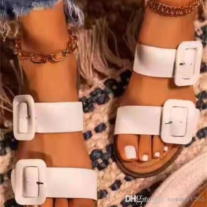 여성 디자이너 슬리퍼 슬라이드 슬라이드 패션 여름 샌들 편안한 신발 패션 플립 플롭
