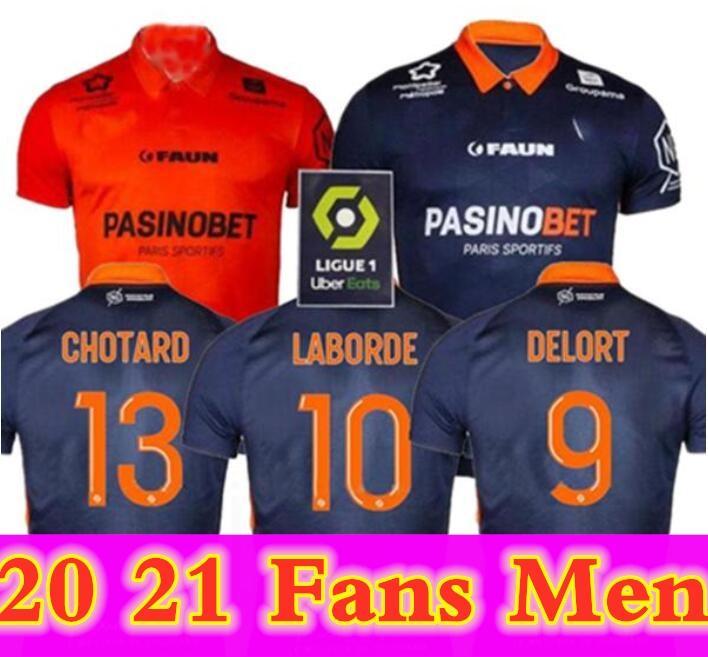 مونبلييه HSC Soccer Jerseys New Laborde Delort Mailleot De Foot Savanier Mavididi Mollet Congre Men Football Shirts Oechs 2020 2021