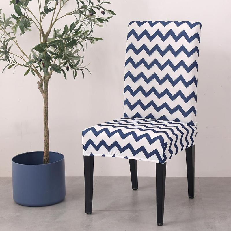의자 커버 36 스판덱스 스트라이프 인쇄 커버 스트레치 신축성 좌석 보호 웨딩 파티 홈 주방 식당 식당