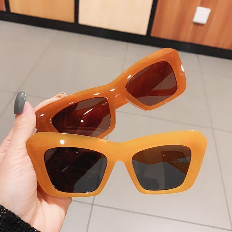 Moda Kedi Göz Güneş Kadınlar Vintage Jöle Renk Gözlük Marka Tasarımcısı Erkekler Trend Shades UV400 Mavi Güneş Gözlükleri