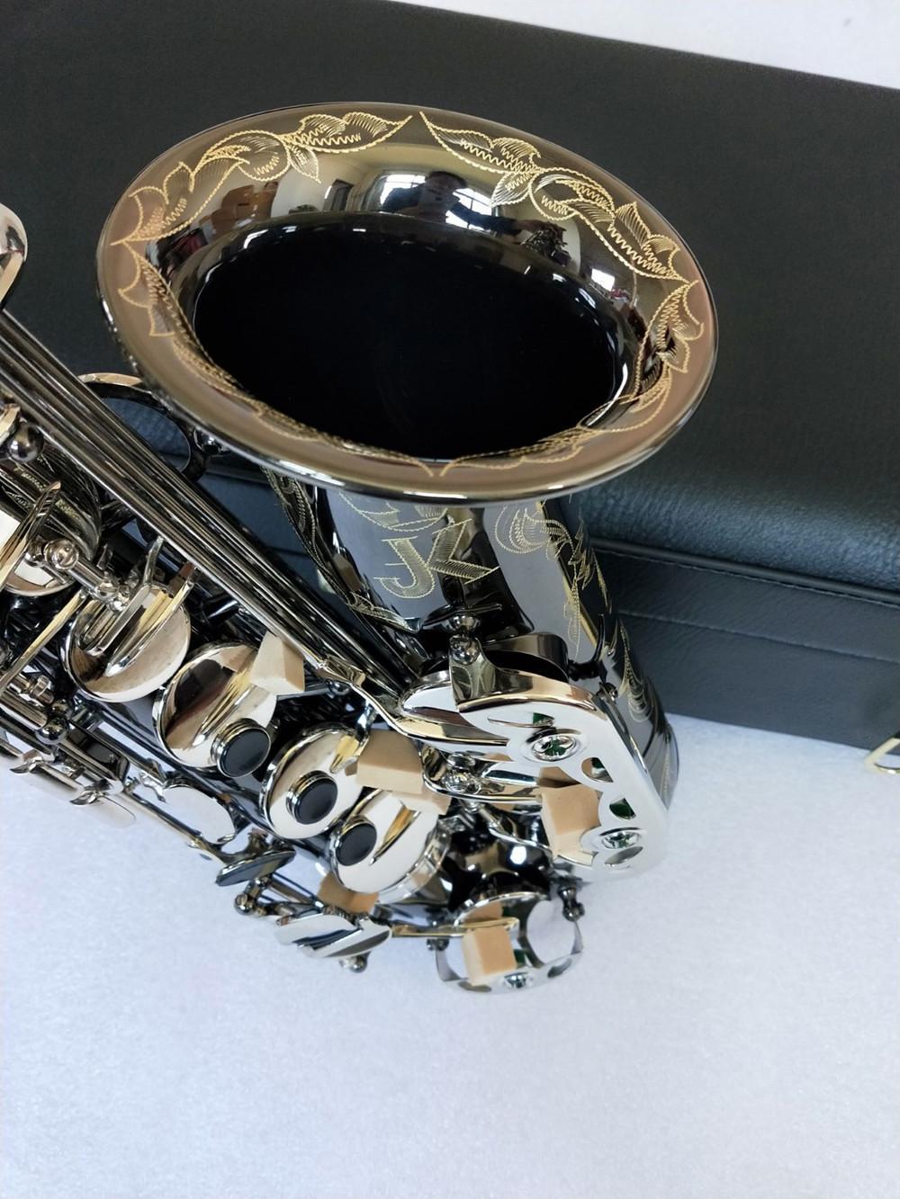 Качество Германия JK SX90R Keilwerth Saxophone Alto Black Nickel Sax латунный музыкальный инструмент с корпусом MOU