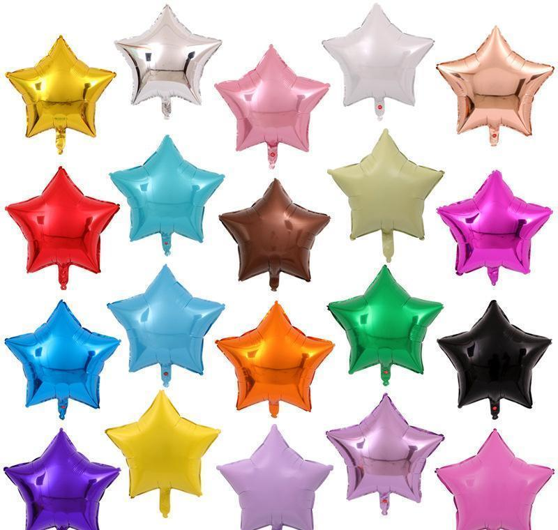 Balloon Novelty Gag Toys & Gifts Drop Delivery 2021 Wholesale 18 Inch Star Shape 50Pcs/Lot Multicolor Aluminium Foil Birthday Balloons Weddin