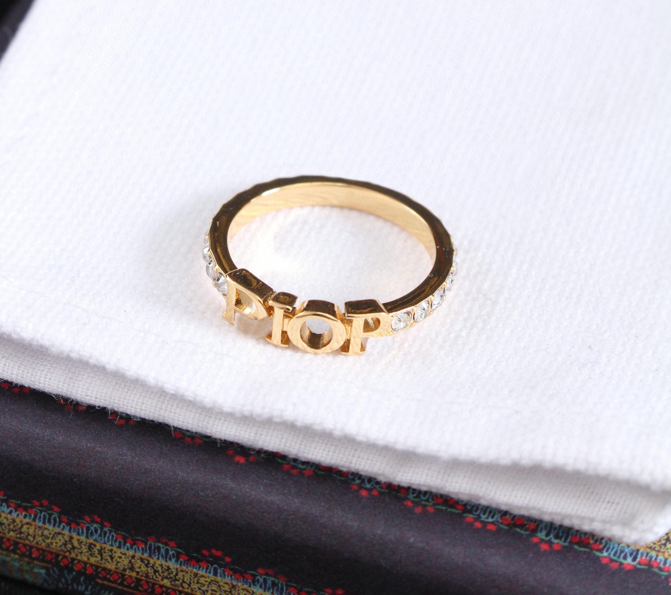 Lettera d'oro Lettera laterali anelli BAGUE PER LADY DONNE DONNA PARTY AMANDE AMANDE GIOCAGGAMENTO IMPEGNO GIOIELLI CON BOX