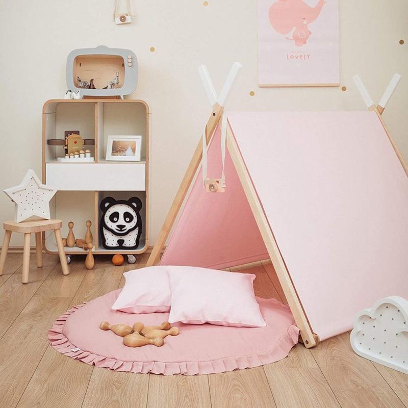 INS Sólido Círculo Play Mats Bebé Crawling Mat Kids Room Soport Mat Niños Habitación Mantas decorativas