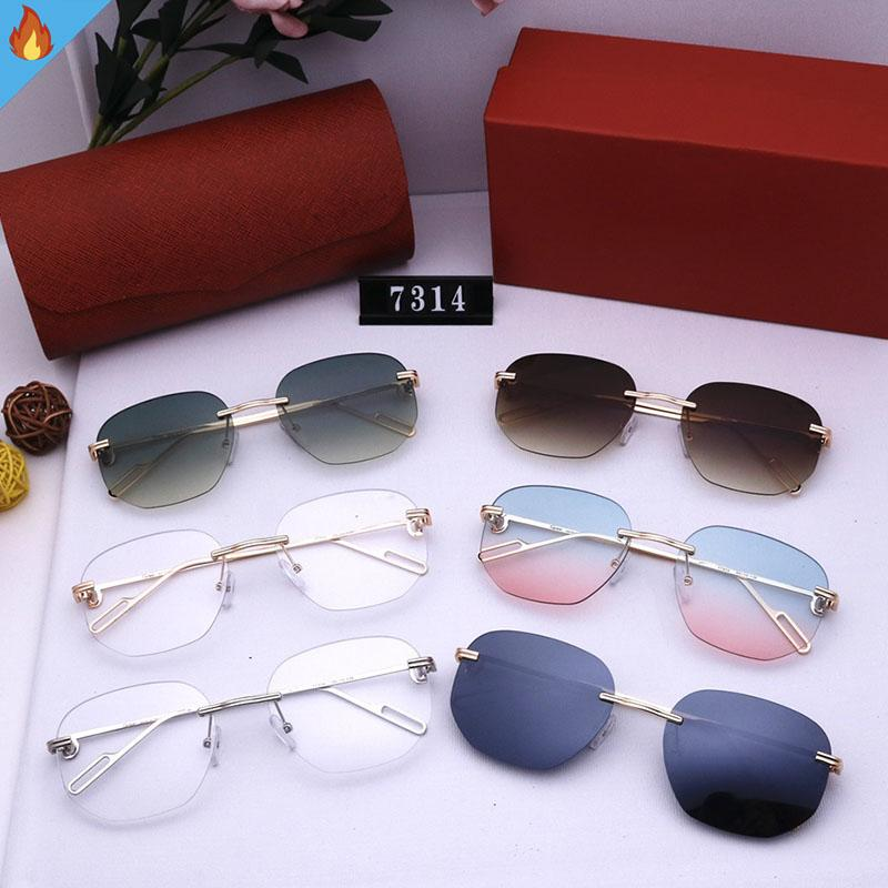 Occhiali da sole da donna Brand Brand Donne Occhiali da sole per gli uomini Vacanze Occhiali da sole Uomo Internet Calebrity Eyewear Occhiali da sole