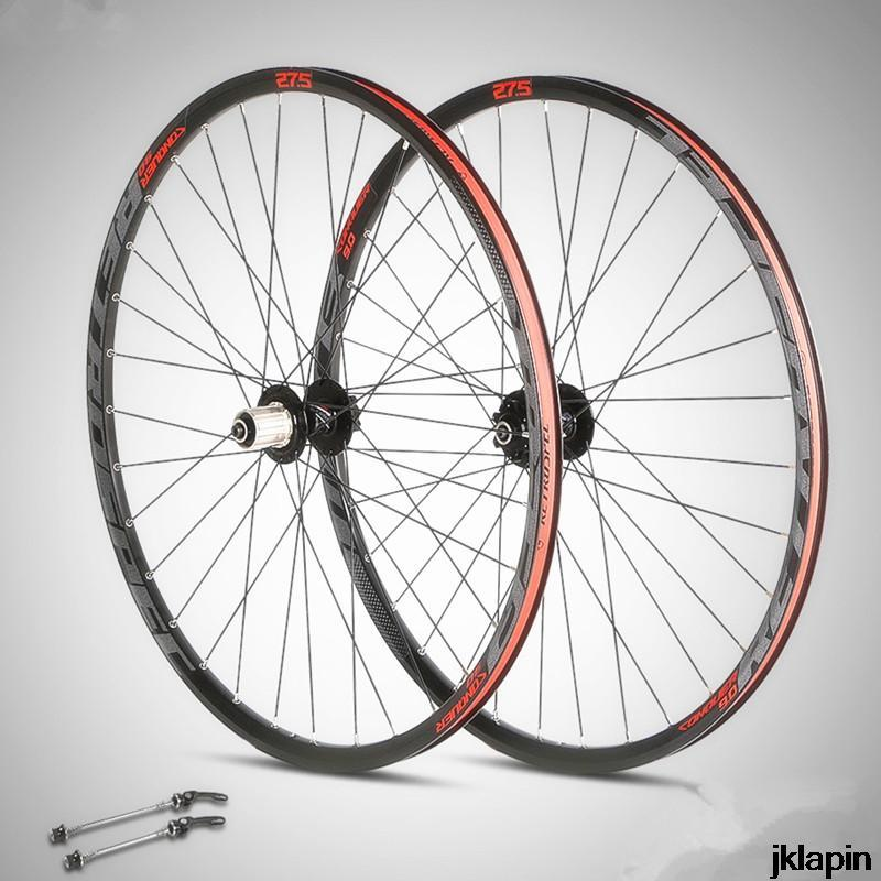 دراجة عجلات C9.0 MTB الجبل الألومنيوم مزدوج الحافات 27.5 / 29 بوصة العجلات مختومة تحمل 32 ساعة ركوب عجلة