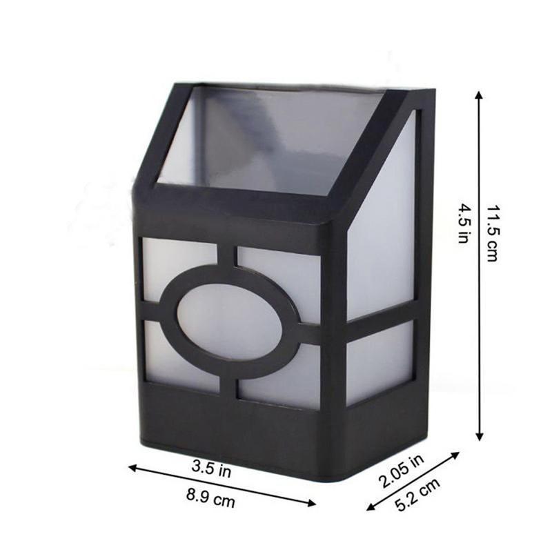 태양 복고풍 벽 빛 야외 방수 2LED 울타리 정원 격자 램프