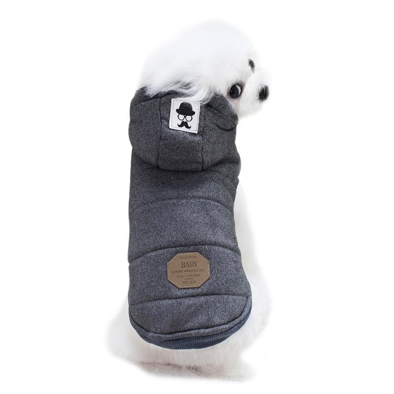 Dog Apparel Pet Clothes For Costume Solid Hooded Autumn/Winter Dogs Warm Gift 1