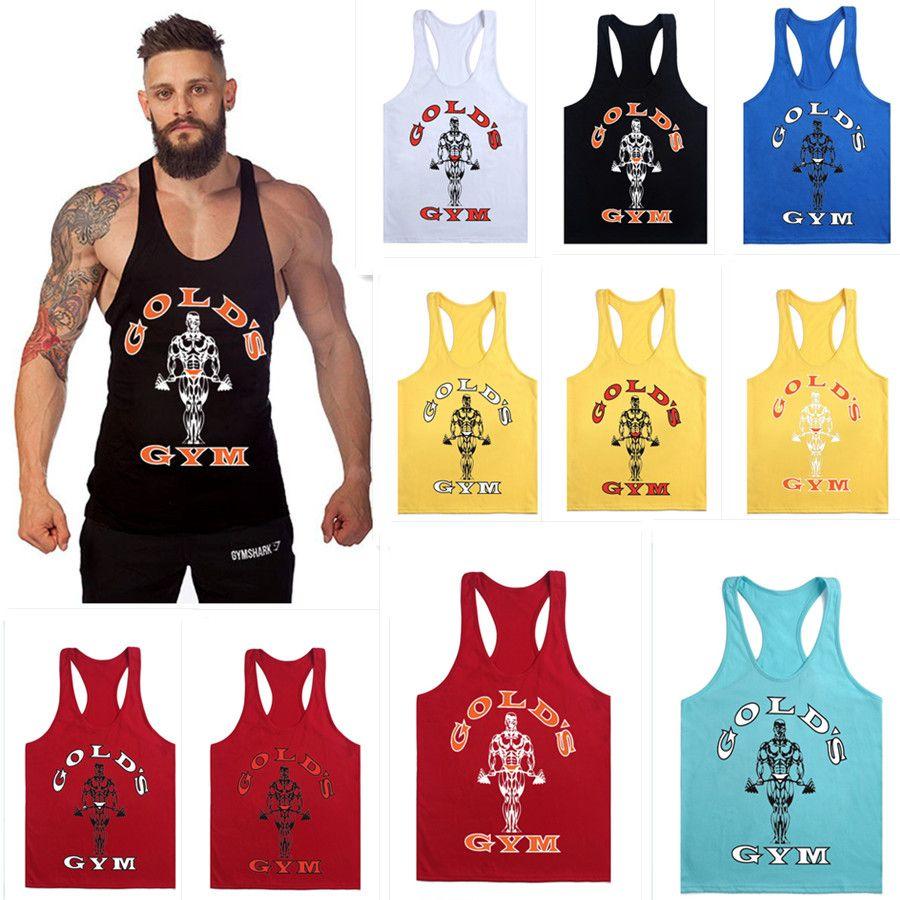 Diruijie 1400 # 12colour m-xxl cotone uomini T-shirt Golds Gym Muscle Joe Stringer Tank Top Top mens maglia Bodybuilding Crossfit Singlet