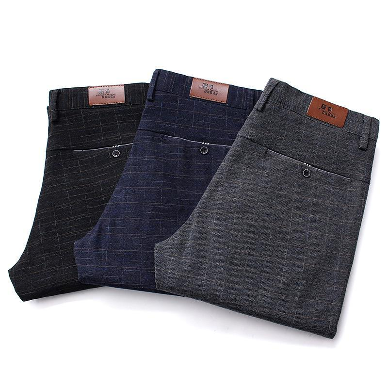 Men's Pants 2021 High Quality Fabrics And Men Sanding Male Trousers Winter Business Casual Free Delivery