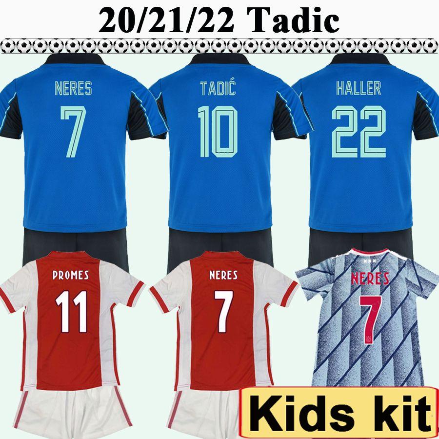 20 21 22 Tadic Ziyech Kit Kit de football Jerseys Huntelaar Klaassen Neres Klaiber Martinez Chaussettes de chemises de football