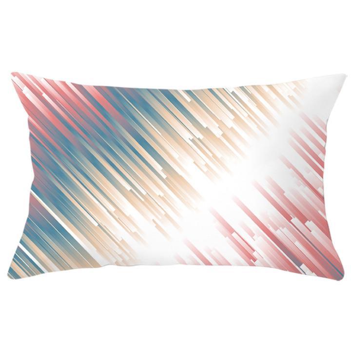 Le dernier étui d'oreiller de 30x50cm, Sélection de style de style d'impression géométrique Rainbow, coussins de meuble à domicile texturé, support de support personnalisé