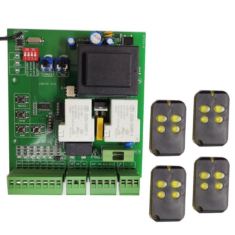 Fingerprint Access Control 220VAC 110VAC Sliding Gate Opener Motor Board Electronic Card Controller Pcb With Optional Remote