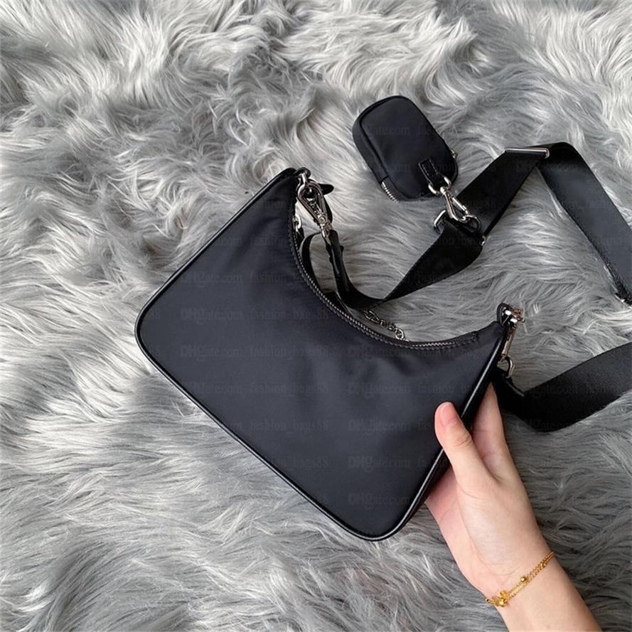 2021 Moda Re-Edition 2005 Naylon Kadın Lüks Tasarımcılar Lady Bayan Crossbody Tote Hobo Omuz Çantalar Çanta Çanta Çanta Cüzdan Backpak ve Kutu