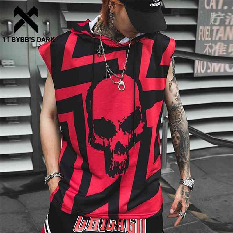 11 Bybb's New Hop Hop Tank Tops Camisa Hoodie Men Summer Sem Mangas Crânio Impresso Cor Blocos Punk Colete Casual Streetwear Casual 210408