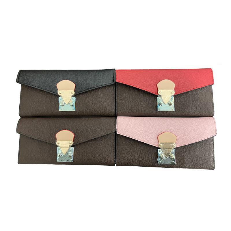 محفظة طويلة للنساء والرجال مصمم سستة حقيبة السيدات حامل بطاقة الجيب أعلى جودة عملة محفظة في 4 ألوان
