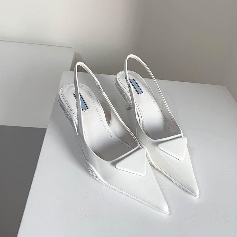 Модная обувь Роскошные женские Насосы Марки Платье Дизайнер Slincacks Размер 35-40 Модель JX02