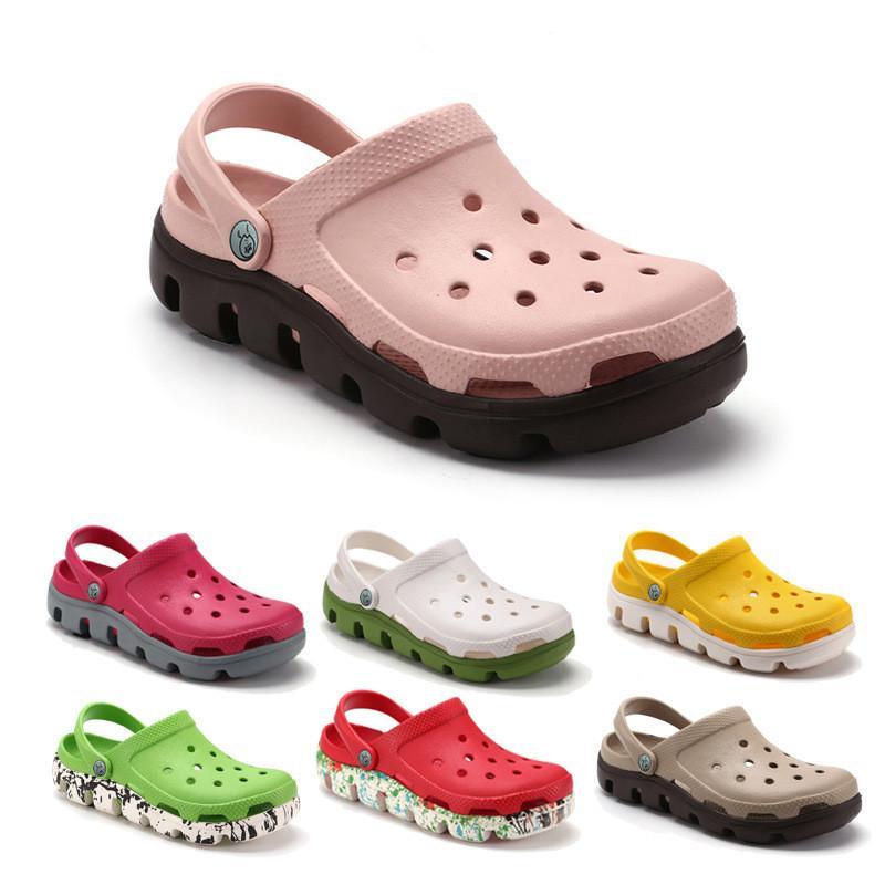 캐주얼 해변 미끄러기 방수 방수 정원 샌들 여성 클래식 간호 슬리퍼 병원 남자 작업 의료 신발