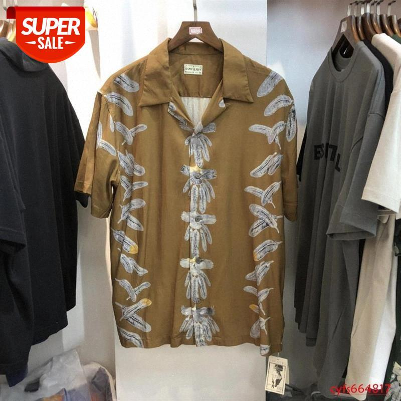 Camisa kapital de alta qualidade Homens Mulheres Streetwear Havaí Estilo Praia Tees Camiseta Roupas Mens # C74V