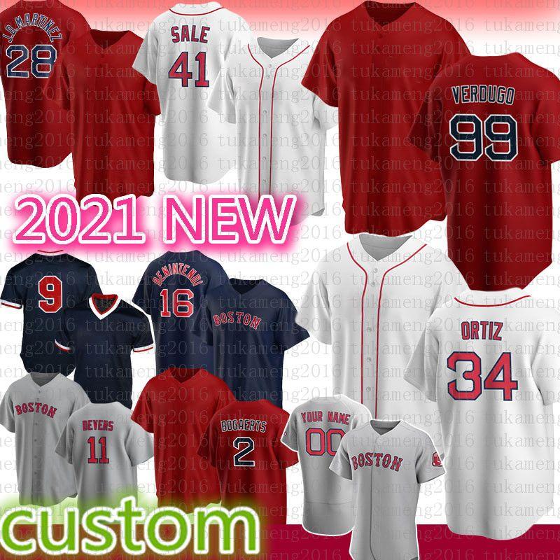 Nova Jersey Baseball Boston 99 Alex Verdugo 9 Ted Williams 28 J.D. Martinez 34 David Ortiz 41 Chris Sale 2 Xander BogAerts 29 Bobby Dalbec 11 Hunter Renfroe 16 Benintendi