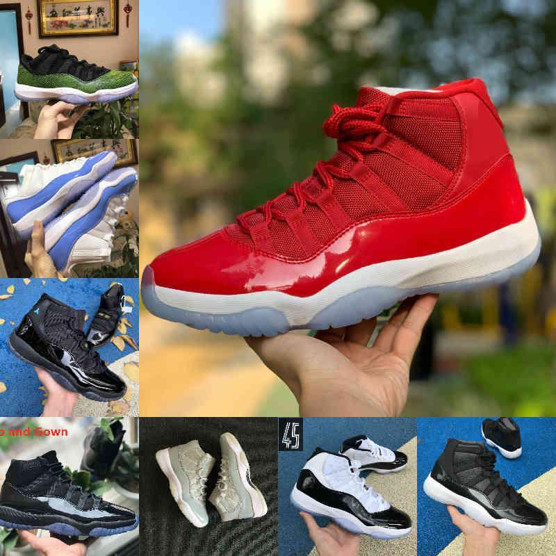 Satış YENI BRED 11S 11 Erkek Kadın Basketbol Ayakkabı Concord 45 Platin Tonu Kiraz Kapağı Ve Kıyafeti Uzay Reçeli Tasarımcı Ayakkabı Spor Eğitmenleri