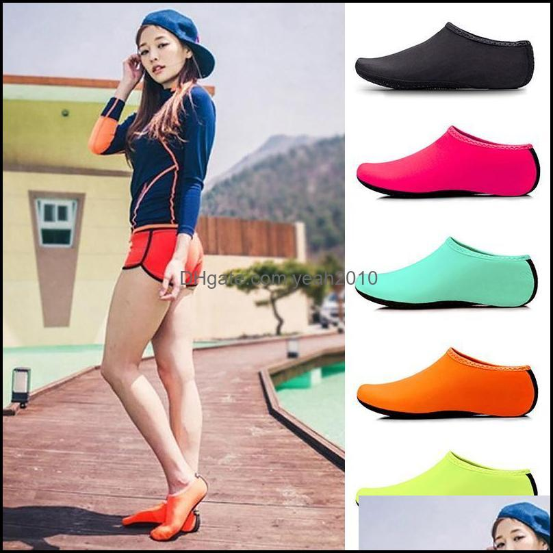 Athletic Outdoor As Sports & Outdoorssports Socks 1 Set Of Solid Color Lycra Breathable Non-Slip Beach Snorkeling Shoe Er Swimming Diving Dr