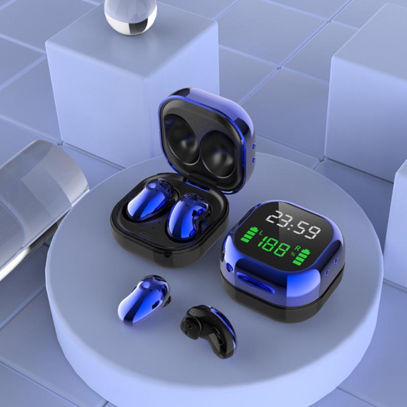 S6Plus LED tela de cor exibir fones de ouvido sem fio TWS bluetooth headset inteligente poder dual shall moda olhar